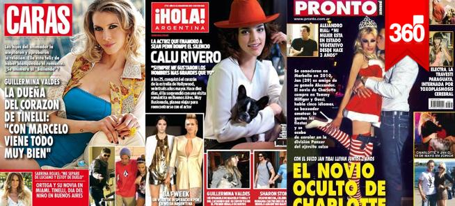 Revistas calu rivero charlotte moria cas n y for Revistas del espectaculo