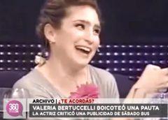 ¿Te acordás? Valeria Bertuccelli criticó una publicidad de Sábado Bus ¡en vivo!