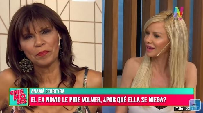Anamá Ferreira enfurecida con el programa de Luciana Salazar: quisieron que hable en vivo con su ex pareja